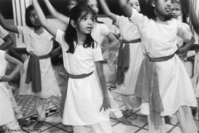 Ref Inde 14 – Leçon de danse traditionnelle Bharata-nayan, Cochin, Kerala, Inde