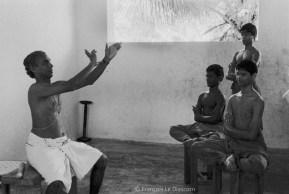 Ref Inde 15 – Leçon de Kathakali, Cheruthuruthy