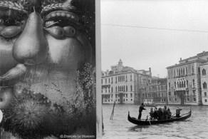Ref VENISE 22 – Affiche d'Arcimboldo et gondole sur le grand canal