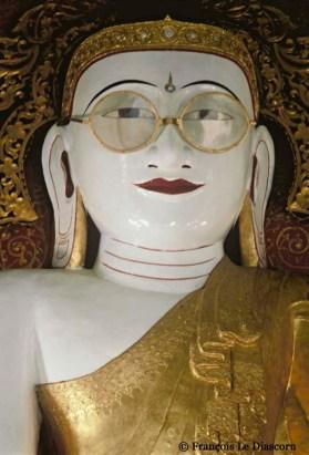 Ref BOUDDHA 1 – Bouddha avec lunettes, Pya, Myanmar, Birmanie