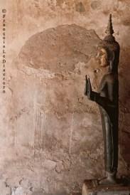 Ref BOUDDHA 23 – Bouddha contre un mur, Vientiane, Laos