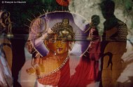 Ref BOUDDHA 4 – Bouddha dans le temple de McLeod Ganj, Inde (temple du Dalai Lama)